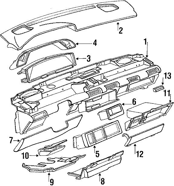 Pontiac Grand Prix Insulator  Sound Absorber  1988