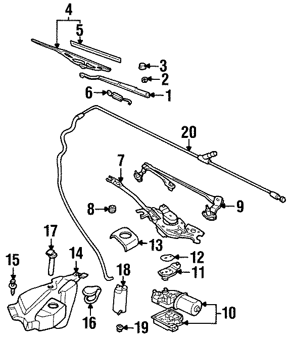 Pontiac Grand Prix Windshield Washer Pump  Rear