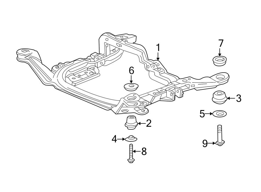 Pontiac Aztek Engine Cradle Bolt  Front  Rear  Lower