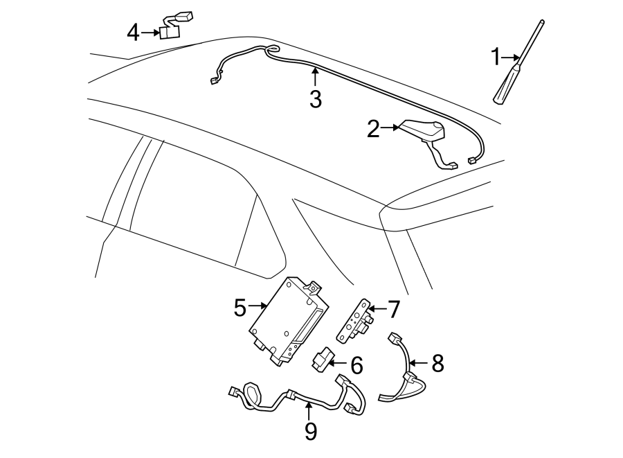 Gmc Terrain Wiring Harness Connector  W  Navigation System