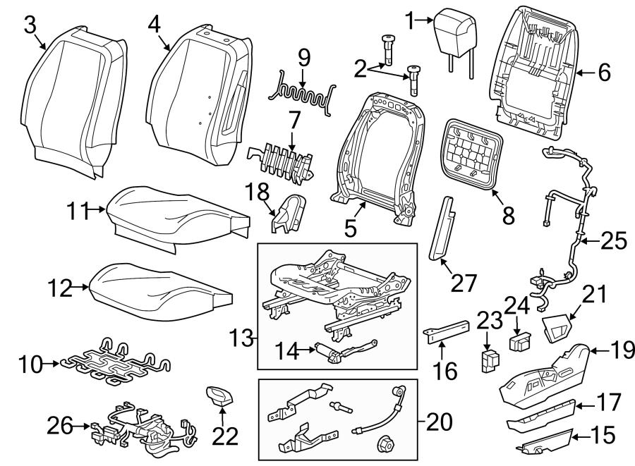 Gmc Terrain Power Seat Wiring Harness  W  O 8