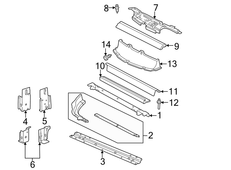 pontiac sunfire rivet deflector reservoir lower 04 Pontiac Engine Diagram