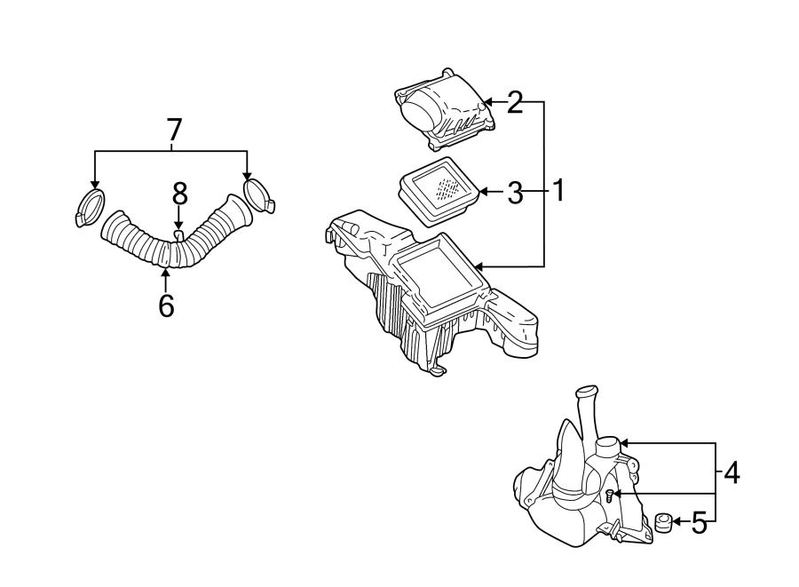 Pontiac Sunfire Engine Air Intake Hose  2 2 Liter  W  O Dohc  2 3 Liter  2 4 Liter