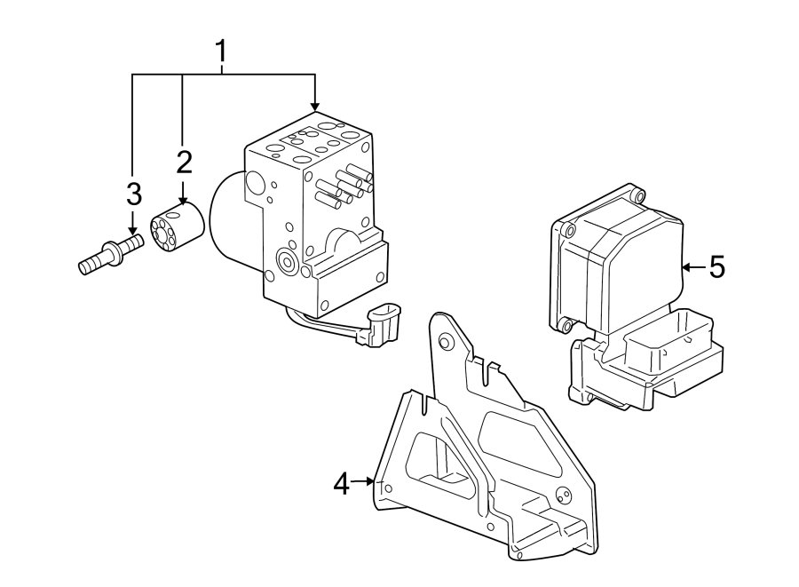 Pontiac Montana Abs Modulator Bracket  W  O Traction Cntrl  Electrical  Components