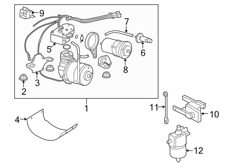 Pontiac Montana Air Suspension Compressor