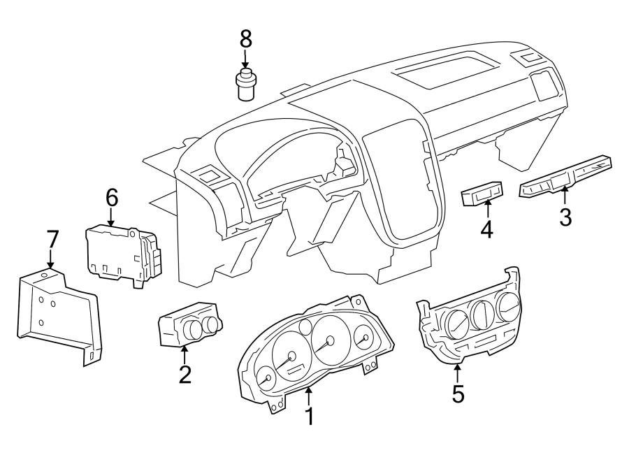 Pontiac Montana Combo Switch  Switch Assembly - Drvr Info Display