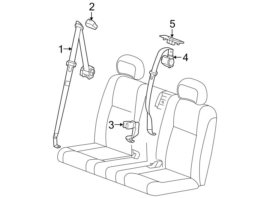 Pontiac Montana Seat Belt Lap And Shoulder Belt  3rd Row