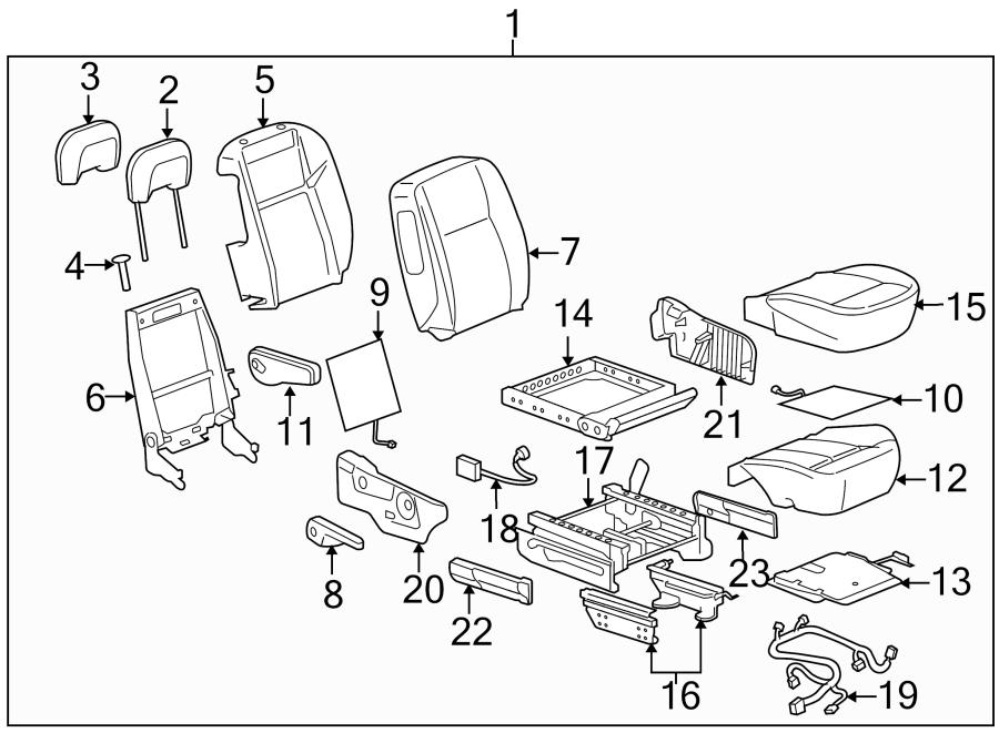 Pontiac Montana Module  Cushion  Seat  Passenger Seat