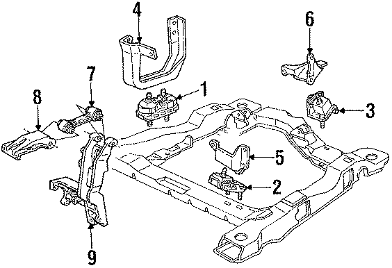 Pontiac Trans Sport Mount  Insulator  Front  Motor