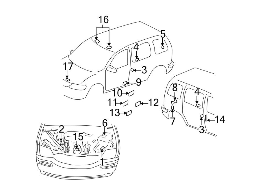 Pontiac Trans Sport Engine Decal  Rear Seat Location Info