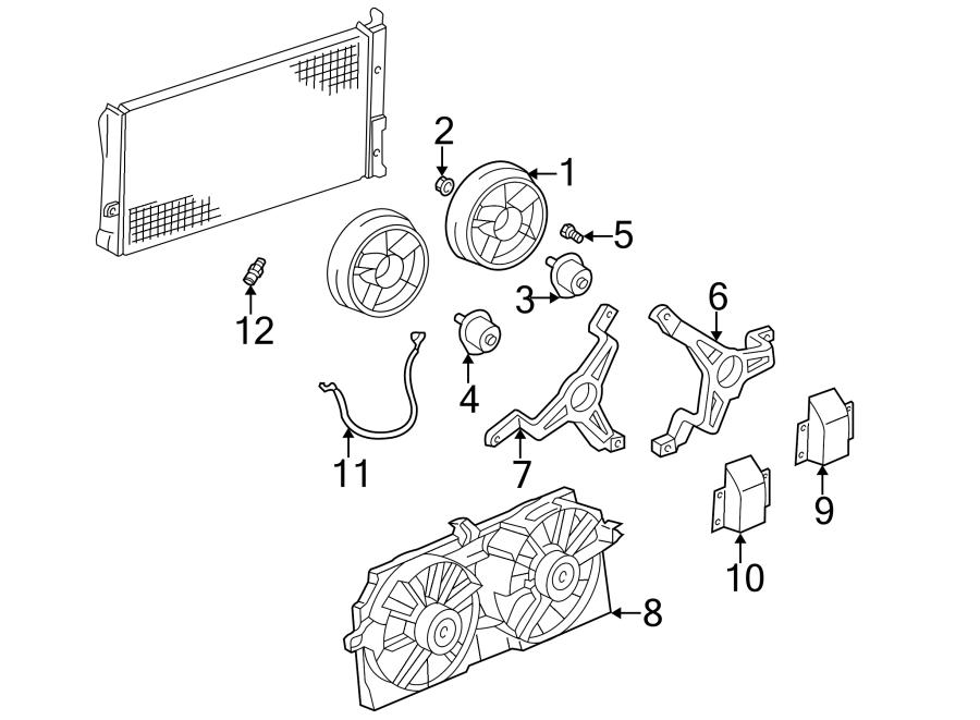 Pontiac Trans Sport Engine Cooling Fan Motor