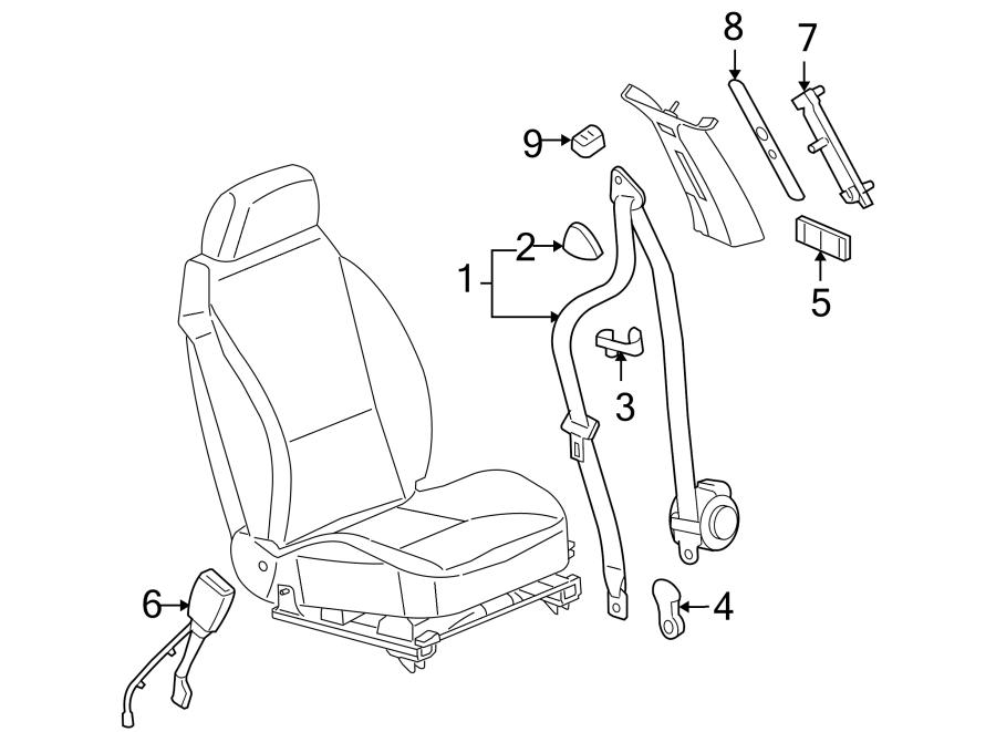 Pontiac G6 Seat Belt Lap And Shoulder Belt  Sedan  Black