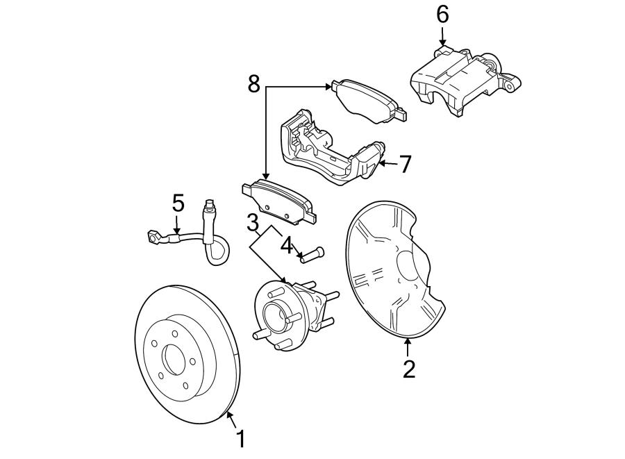Pontiac G6 Brake Hydraulic Hose  Rear