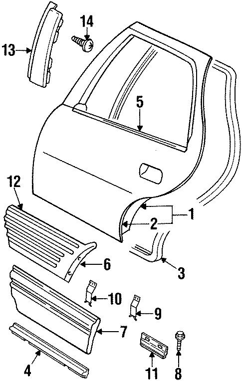 Pontiac Grand Prix Body Side Molding Retainer Clip  Bolt  Center  Coupe  Coupe  Se