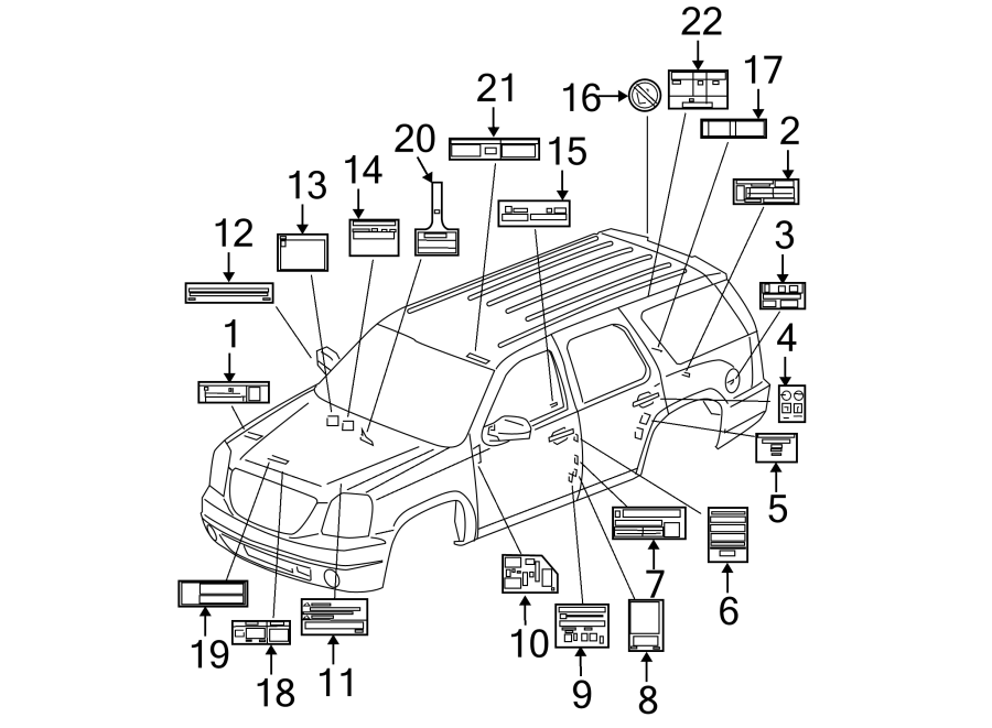 Chevrolet Suburban 2500 Engine Decal  Road Side Service
