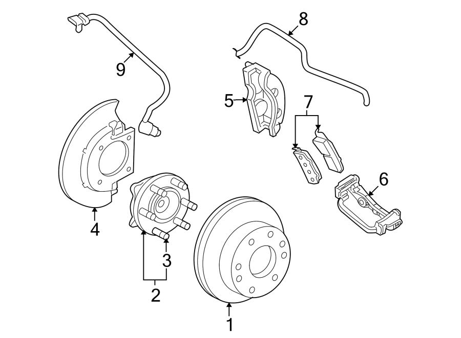 Gmc Yukon Xl 2500 Disc Brake Caliper Bracket  Ton  Left  Rear