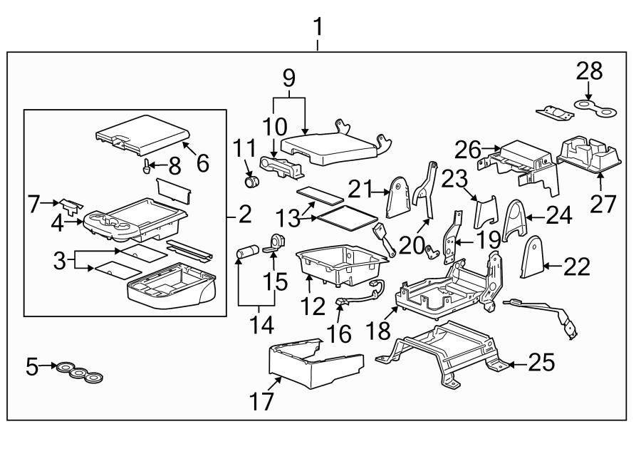 Gmc Yukon Xl 1500 Power Seat Wiring Harness  Center  Split