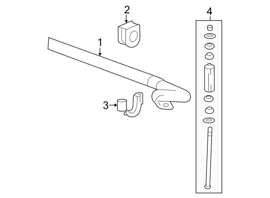 Gmc Sierra 1500 Stabilizer  Link  Bar   Front