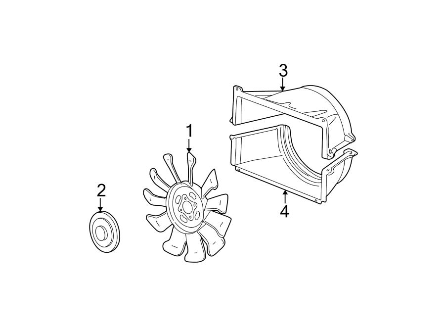 Chevrolet Express 3500 Engine Cooling Fan Shroud  Upper