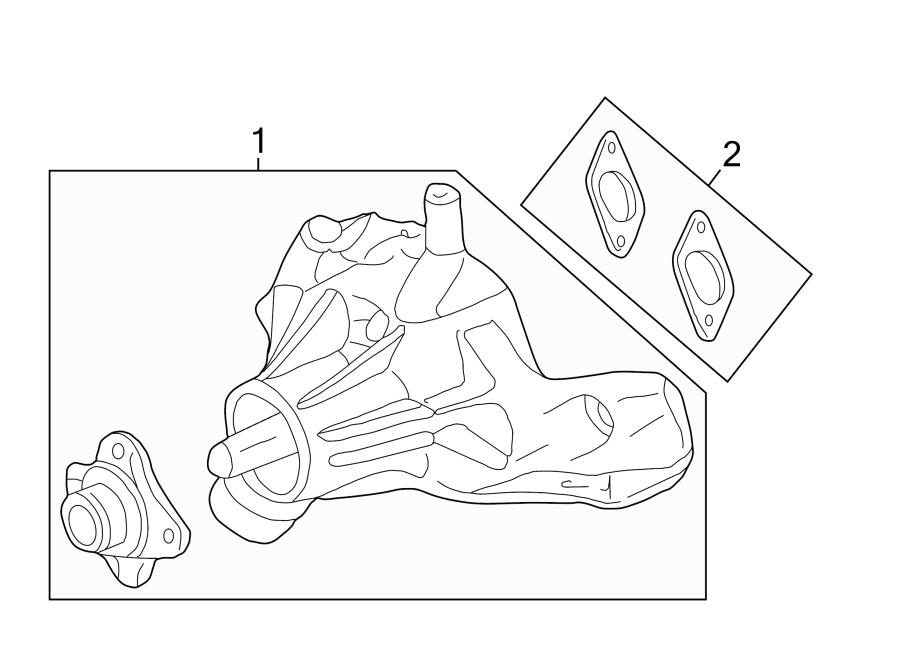 Chevrolet K1500 Suburban Engine Water Pump Backing Plate Gasket  6 5 Liter Diesel  Gasket For