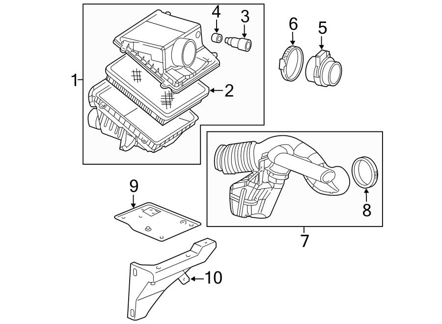 Cadillac Escalade Engine Air Intake Hose  Rear   4 8  5 3  U0026 6 0 Liter Gas  5 3l  6 0l