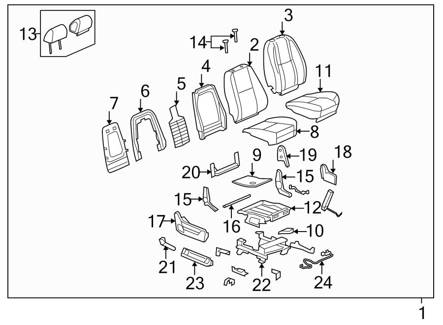 Chevrolet Tahoe Power Seat Wiring Harness  Passenger
