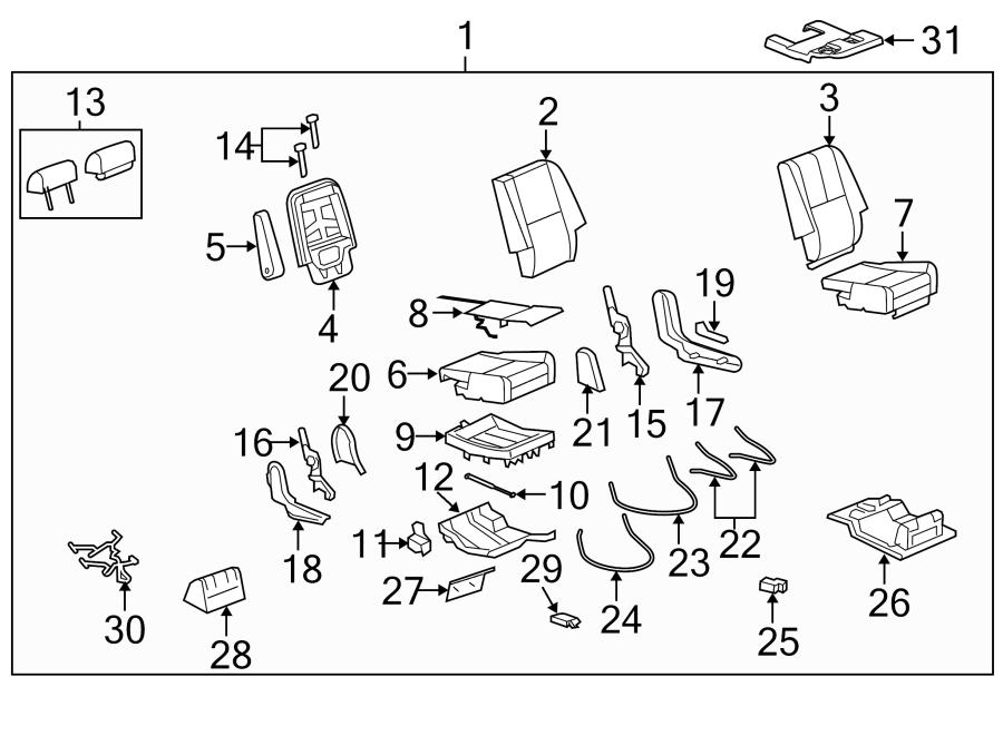 Chevrolet Tahoe Seat Frame Insulator  Lower   Bucket Seat