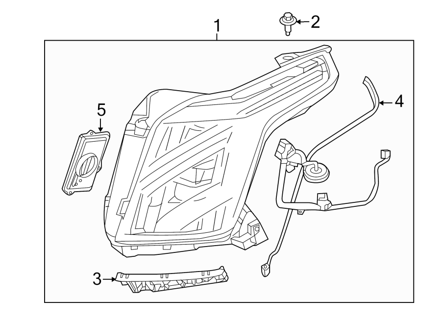 Cadillac Escalade Hid Headlight Components  Module Assembly