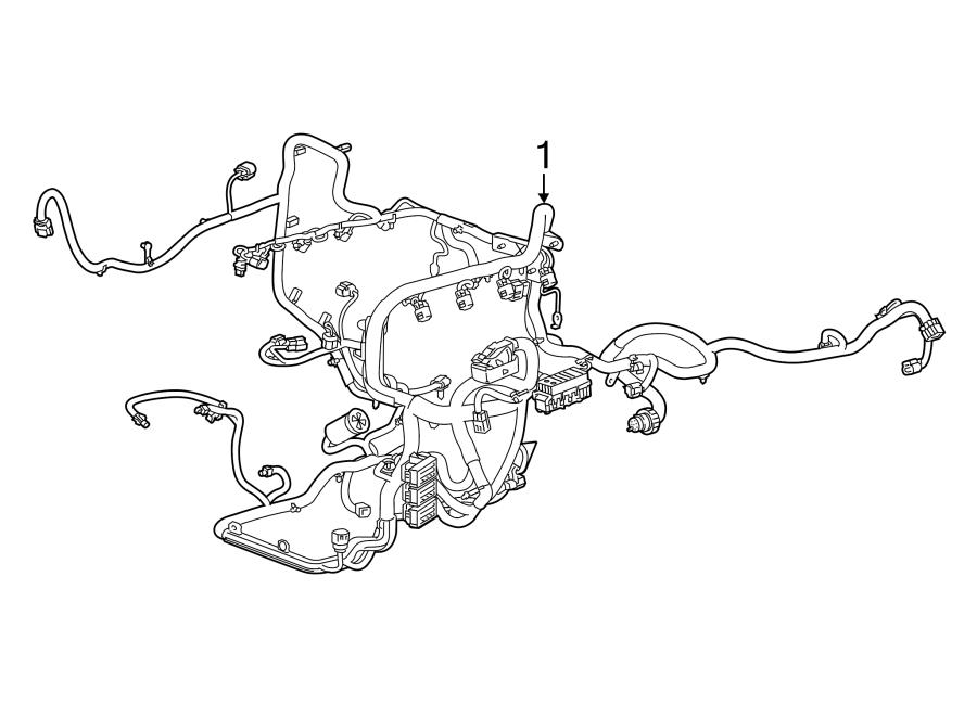 cadillac escalade engine wiring harness  w  o adaptive