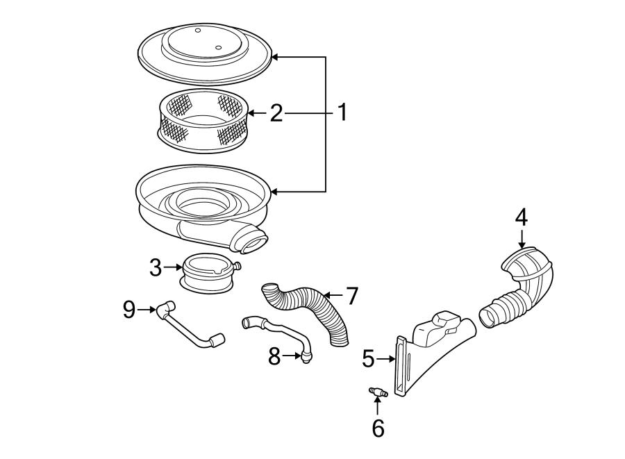 Chevrolet S10 Engine Air Intake Resonator  4 3 Liter