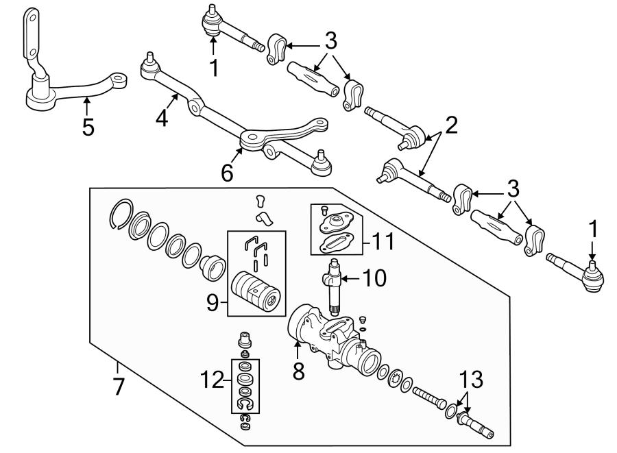 Chevrolet V20 Steering Gear Sector Shaft  Front  Pitman