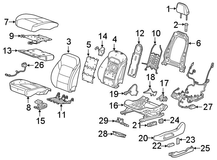 Chevrolet Blazer Power Seat Wiring Harness  Front   W  Power  W  O Heated