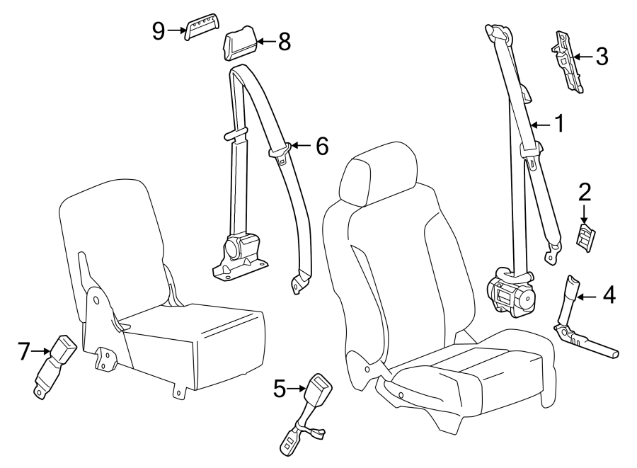 GMC Sierra 1500 Seat Belt Lap and Shoulder Belt. REGULAR ...