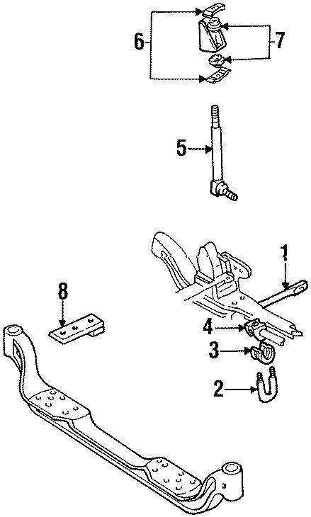 Gmc C1500 Suspension Stabilizer Bar Link Washer  2wd W  15  000 Gvwr