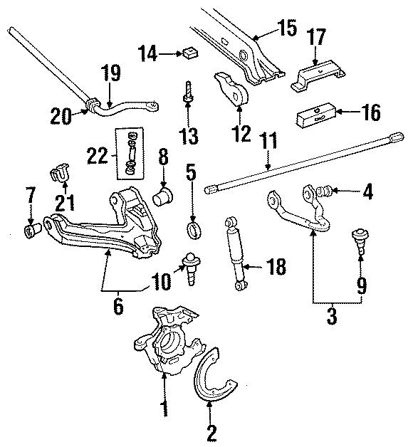 Chevrolet C1500 Torsion Bar Adjusting Arm  Ton  Left