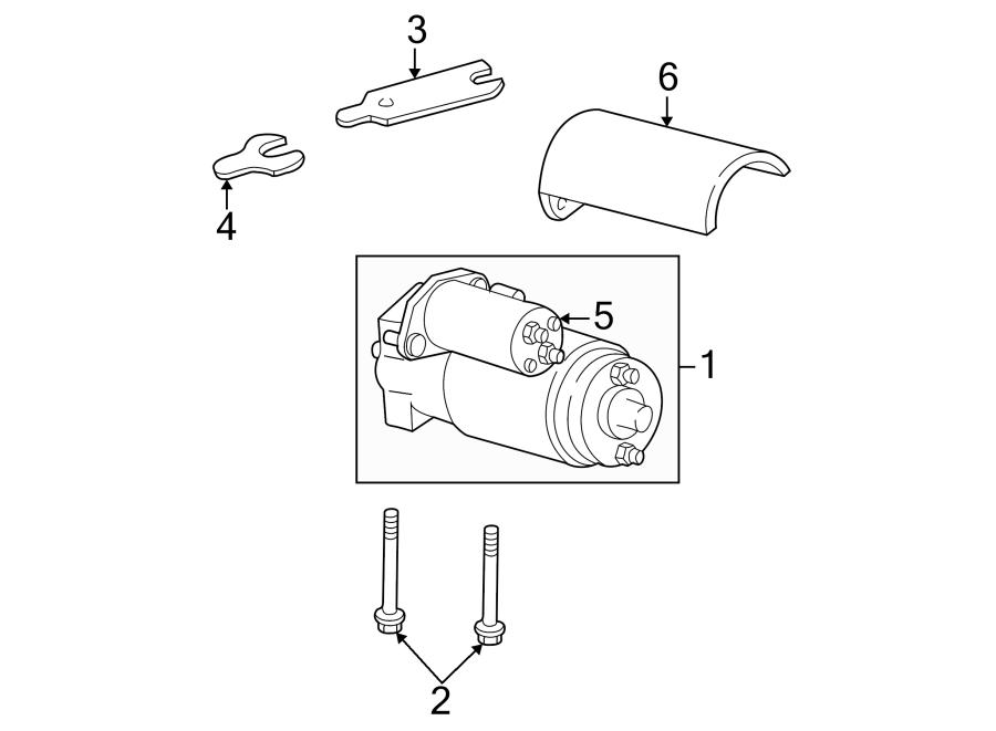 GMC C3500 Starter Heat Shield. 7.4 LITER. 8.1L. Gas, 7.4 ...