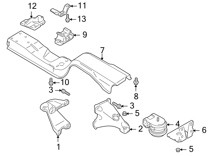 Chevrolet Tracker Automatic Transmission Mount Bracket  1