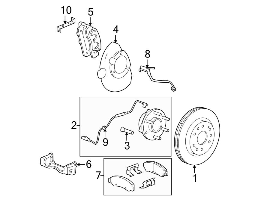 Chevrolet Avalanche Abs Wheel Speed Sensor  Front