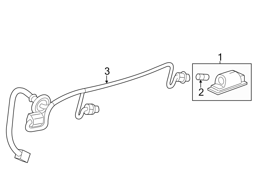 Chevrolet Traverse Wiring Harness Connector  Rear   2013