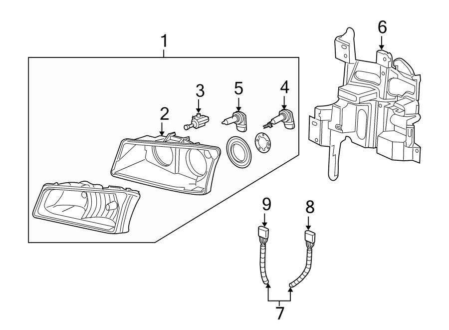 Gmc Sierra 1500 Headlight Wiring Harness  Chevrolet  Gmc