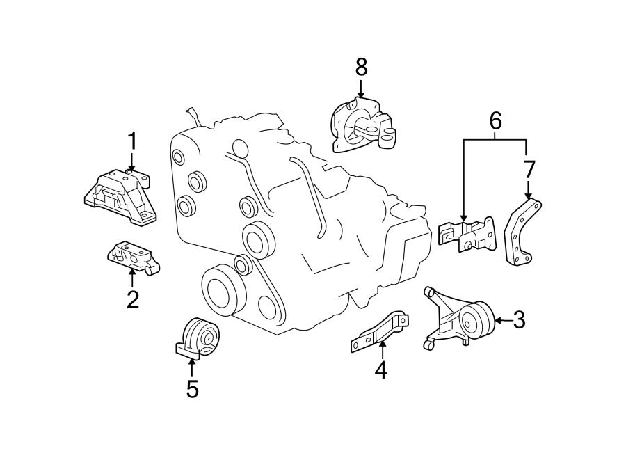 Chevrolet Equinox Engine Mount Bracket  3 4 Liter