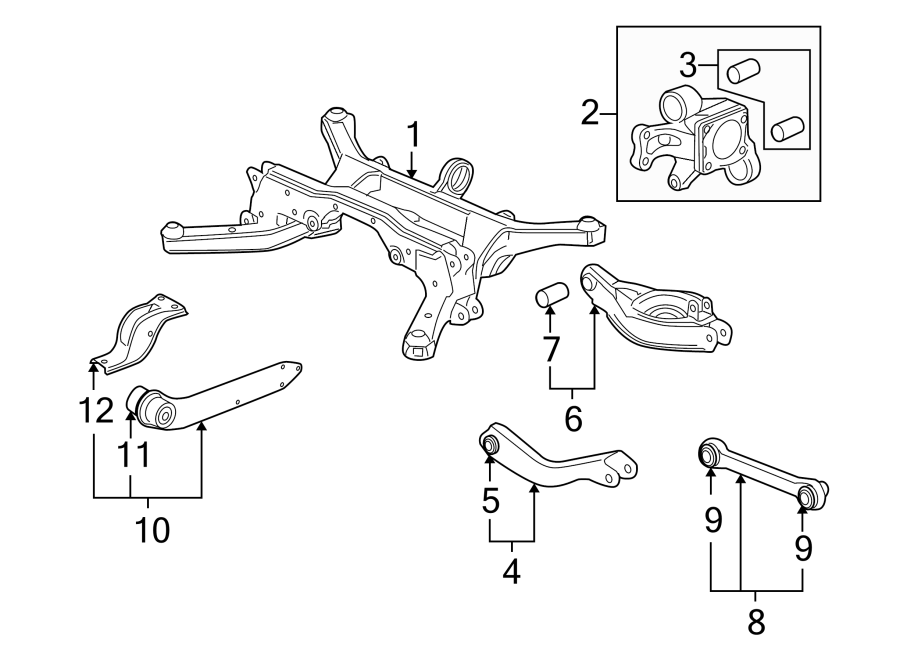 Chevrolet Equinox Arm  Trailing  Suspension  Control