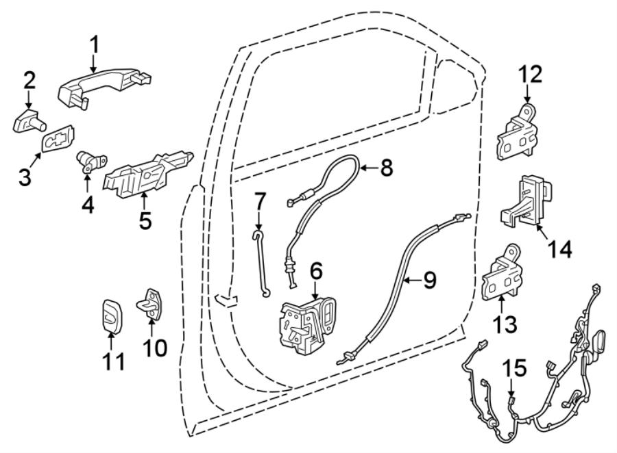 chevrolet equinox door wiring harness  front   w  o memory