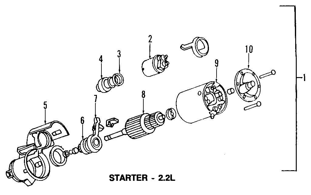 pontiac sunfire starter motor 10465493 gm parts Pontiac Torrent Engine Diagram