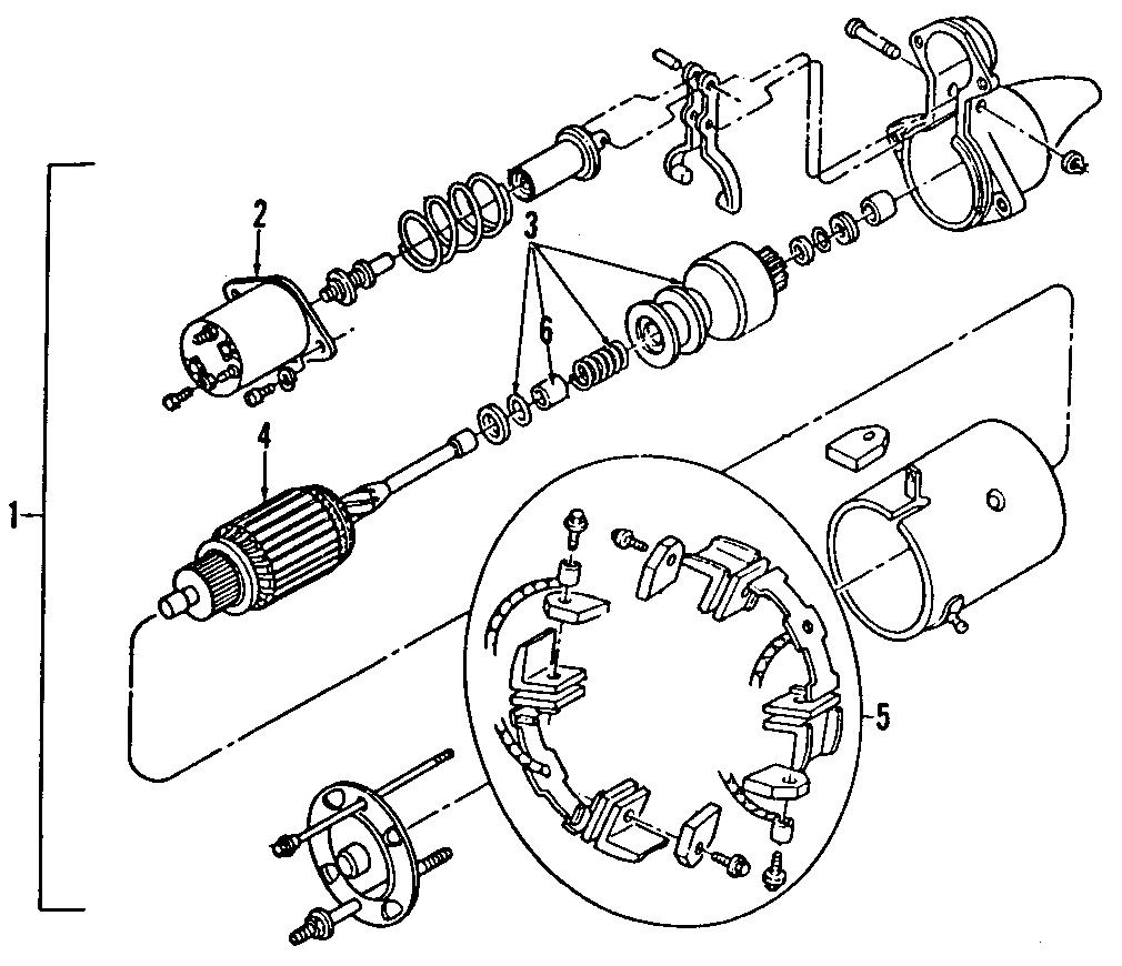 Pontiac Trans Sport Starter Motor