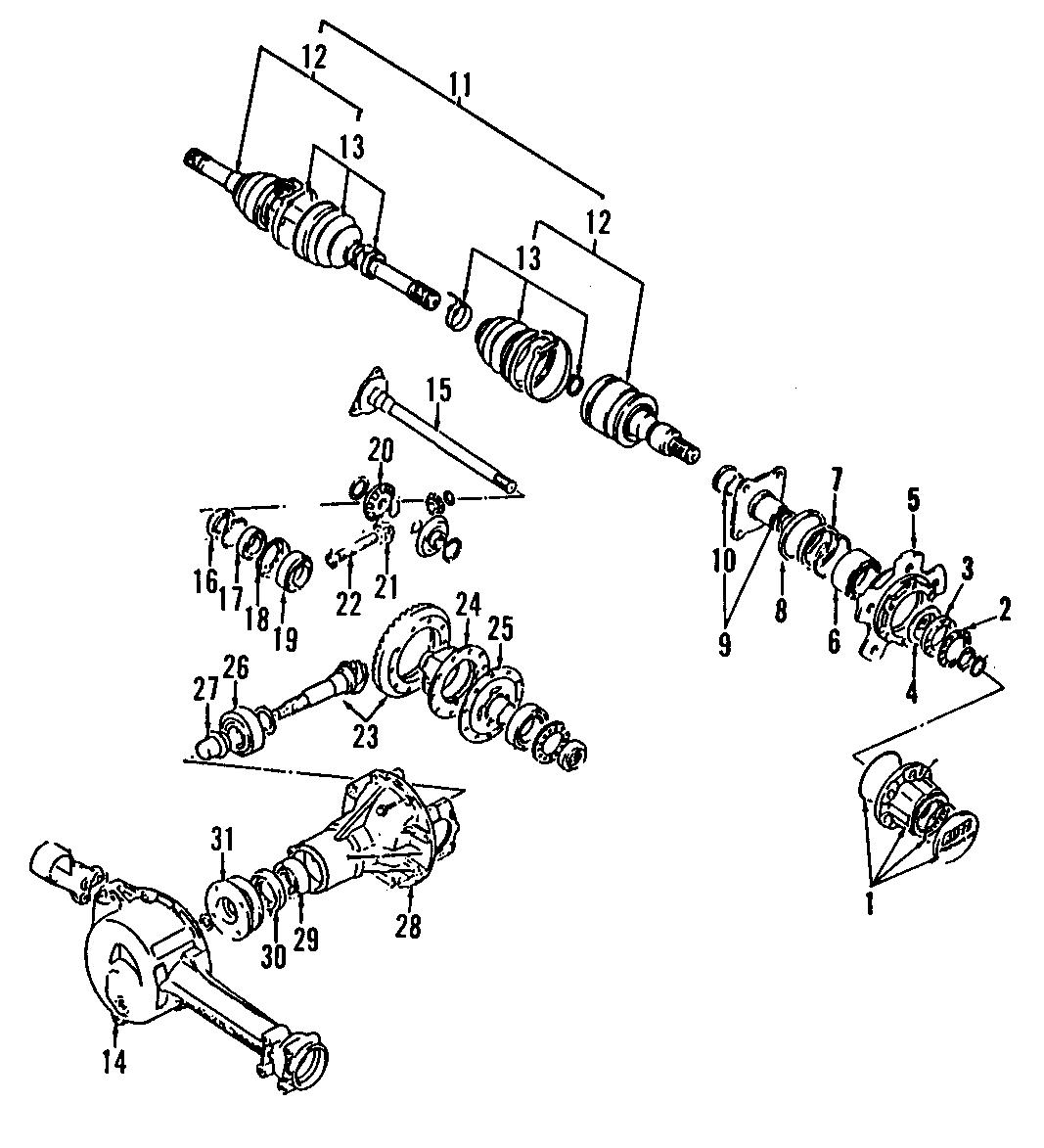 Chevrolet Tracker Differential Pinion Seal  Axle