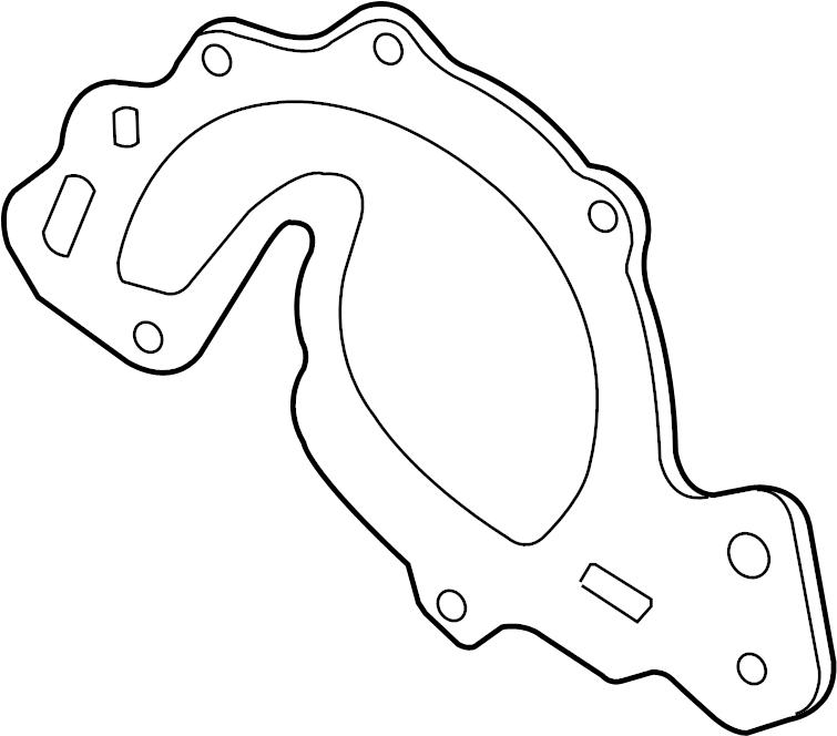 Pontiac Trans Sport Engine Water Pump Gasket