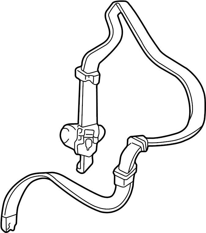Buick Regal Seat Belt Lap And Shoulder Belt  Neutral  Sable  Left  Front  Retractor