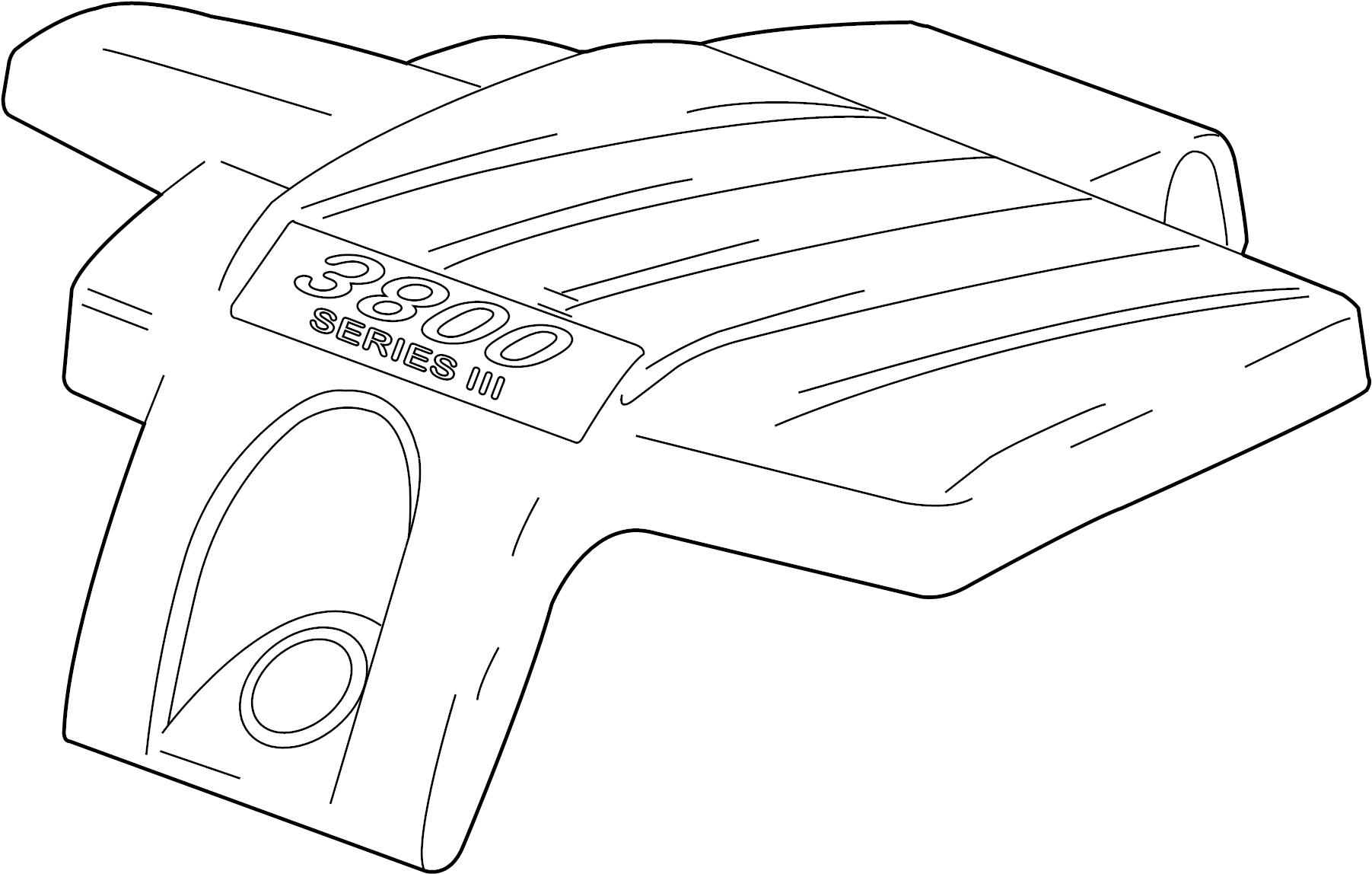 Pontiac Grand Prix Engine Cover. 3.8 LITER. 3.8 LITER, w/o ...