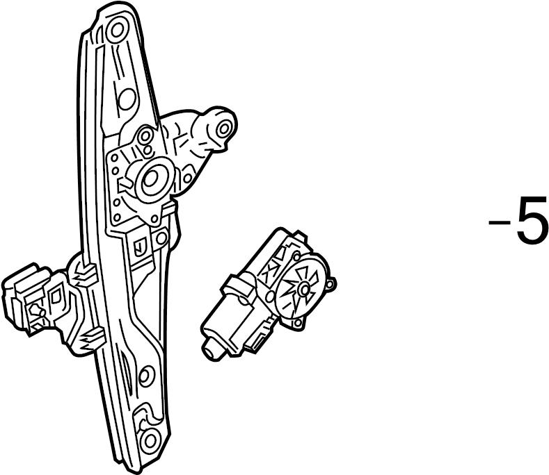 Cadillac CTS Window Motor. CTS; Right. Make, Regulator